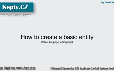 Kepty4Beginners: How to create a basic entity