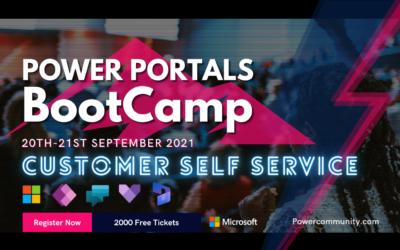 Next conf session: Cust. Self Service & Power Portals Bootcamp